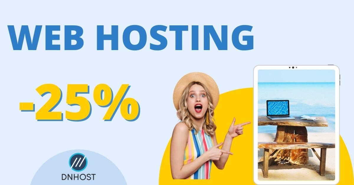 Αποκτήσε Web Hosting με έκπτωση 25%